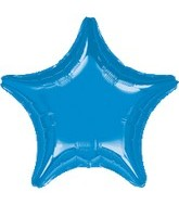 "32"" Large Balloon Blue Star"