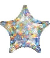 "32"" Large Balloon Holo Fireworks Star"