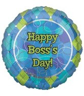 "18"" Boss&#39s Day Balloon Diamond Print"