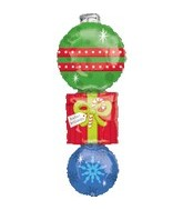 "40"" Christmas Stacker Mylar Balloon"