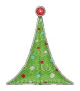 "38"" Holographic Christmas Tree Balloon"