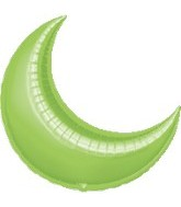 "26"" Lime Crescent Moon Balloon"