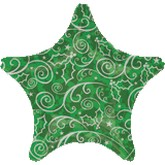 18&#39&#39 Green Pattern Star Balloon