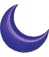 "26"" Purple Crescent Moon Balloon"