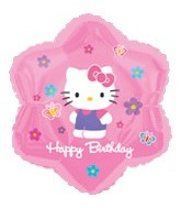 "18"" Hello Kitty Balloon Flowers HBD"