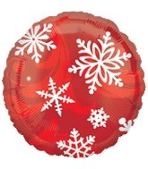 "18"" Red Snowflakes No Message Balloon"