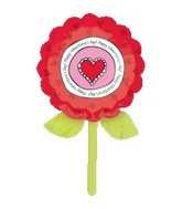"33"" Happy Valentine&#39s Day Flower Balloon"