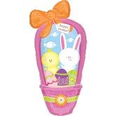 "38"" Happy Easter Basket with Bow Balloon"