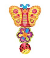 "37"" Ladybug, Flower, Butterfly Stacker"