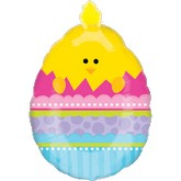 "27"" Chick In Egg Easter Balloon"