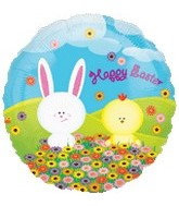 "18"" Happy Easter Chick and Bunny"