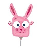"14"" Airfill Silly Pink Bunny"