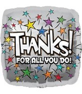 "32"" Thanks for All You Do Stars Balloon"