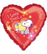 "18"" Snoopy I Love You Heart Balloon"