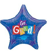 "32"" Go Grad Jumbo Balloon Star"