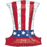 "18"" Uncle Sam Hat SuperShape"