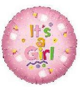 "18"" It's A Girl Baby Bottle Balloon"