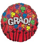 "18"" Grad Cap Messages Red Balloon"