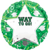 18&#39&#39 Personalized Way To Go Grad Green
