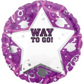 18&#39&#39 Personalized Way To Go Grad Purple