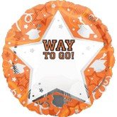 18&#39&#39 Personalized Way To Go Grad Orange