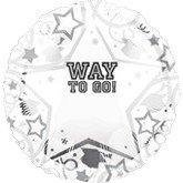 18&#39&#39 Personalized Way To Go Grad White