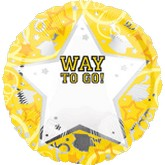 18&#39&#39 Personalized Way To Go Grad Yellow