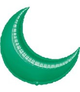 "26"" Green Crescent Moon Balloon"