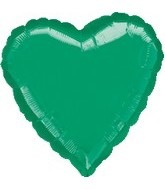 "32"" Large Balloon Green Heart"