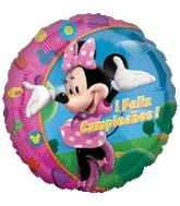 "18"" Mickey Mouse Minnie Feliz Cumpleanos"