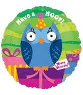 "18"" Have a Hoot Happy Birthday Eye Popper Balloon"