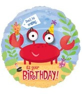 "18"" Crabby Happy Birthday Eye Popper Balloon"