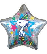 "32"" Jumbo Snoopy Balloons Happy Birthday"