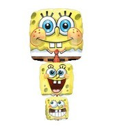 "38"" SpongeBob Balloon Stack Shape"