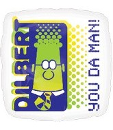 "18"" Dilbert You Da Man! Mylar Balloon"