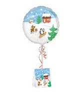 "18"" Decorate Own Balloon Christmas Stickers Weight"