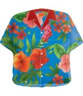 "24"" Jumbo Mylar Hawaiian Shirt Balloon"