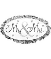 "32"" Jumbo Foil Mr. & Mrs. Balloon"