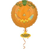 "30"" Jack -O-Lantern Flashing Lights Balloon"