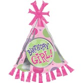 Birthday Girl Polka Dot Party Hat