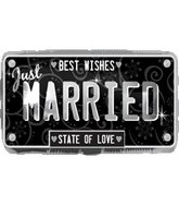 "22"" Just Married License Plate Balloon"