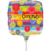 "9"" Airfill Only Congrats Balloon"