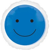 "18"" Magicolor Blue Smiley Face"