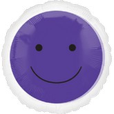 "18"" Magicolor Purple Smiley Face"