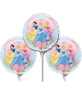 "9"" EZ Fill Airfill Princesses With Sticks (3 Pack)"
