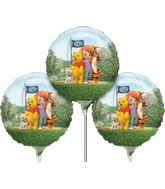 "9"" EZ Fill Airfill Pooh With Sticks (3 Pack)"