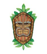 "33"" Jumbo Mylar Tiki Shield Balloon"