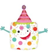 "35"" Boxed Surprise Party Hat Balloon"