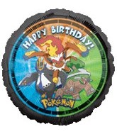 "18"" Pokemon Happy Birthday Party Balloon"