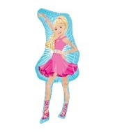 "42"" Barbie Pink Dress Shape Balloon"